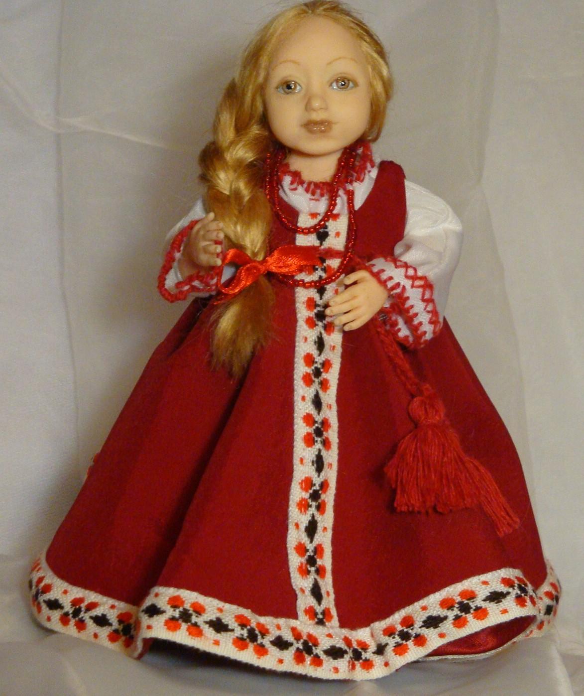 Русские народные костюмы для кукол своими руками